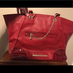 Handbags - Computer/file bag with gold chain accent!